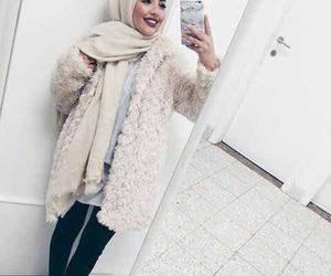 hijab, fashion, and makeup image