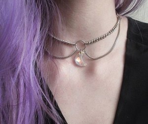 choker, jewelry, and gem image
