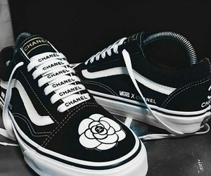 chanel, vans, and shoes image