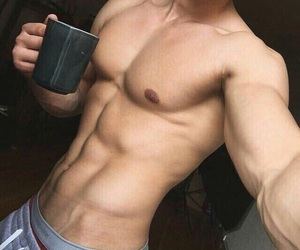 boy, abs, and handsome image