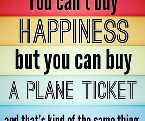 happiness, travel, and quotes image
