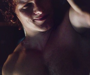 hot boy, red hair, and outlander image