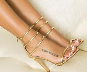gold heels image