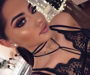 black, dresses, and eyebrows image