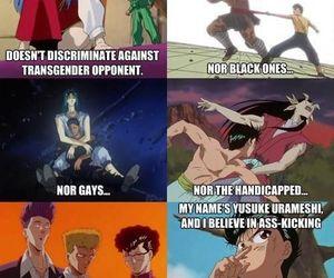 anime, yu yu hakusho, and urameshi image