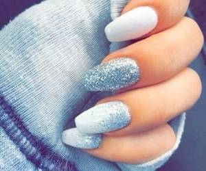 nails, glitter, and white image