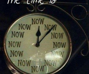 time, now, and clock image