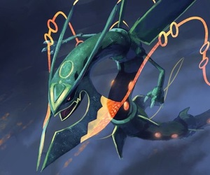 mega, pokemon, and rayquaza image