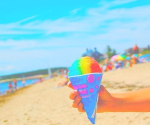 summer, beach, and ice cream image
