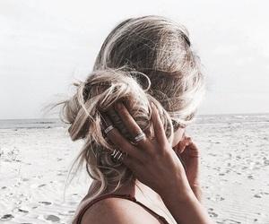hair, beach, and blonde image