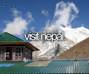 goals, nepal, and travel image