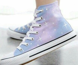 converse, galaxy, and pastel colors image