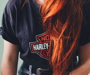redhead and harley image