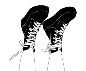 outline, shoes, and black image