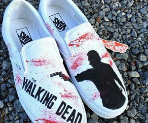 vans, shoes, and walking dead image