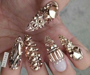 art, diamante, and gold image