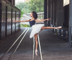 ballet, dancer, and pointe shoes image