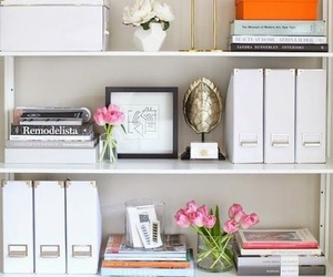 bookcase, decor, and home image