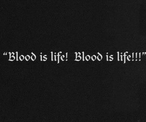 blood, black and white, and quote image