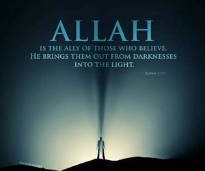 Darkness, islam, and light image