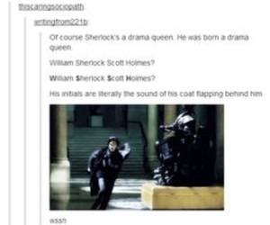 sherlock and drama queen image