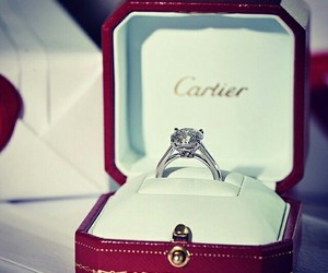 cartier, ring, and wedding image