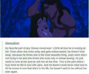 tarzan, love, and disney image