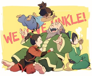 toph, zuko, and fire nation image