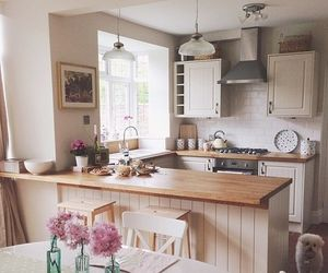 kitchen, home, and puppy image