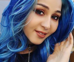 blue hair, fashion, and girls image