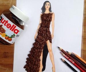 nutella, art, and dress image