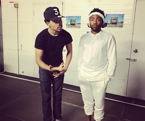 childish gambino, donald glover, and chance the rapper image