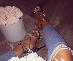 flowers, luxury, and shoes image