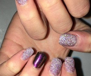 acrylics, sparkles, and girly image