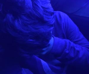 blue, sad boys, and hair image