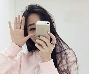 ulzzang, asian, and pink image