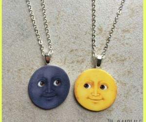 moon, emoji, and necklace image