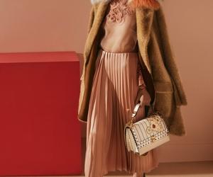 coat, fendi, and pleated skirt image