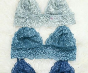 blue, bra, and lace image