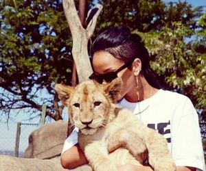 rihanna, lion, and riri image