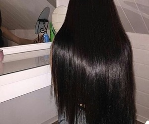 hair, beauty, and long image