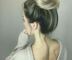 back, lonely, and bun image