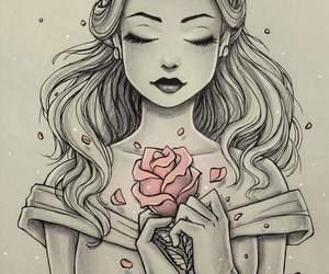disney, belle, and art image