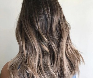 brunette, hair, and balayage image