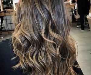 brunette, hair, and balayage image