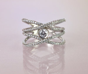 etsy, engagement rings, and gold ring image