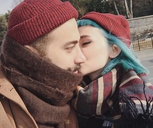bluehair, couple, and ship image