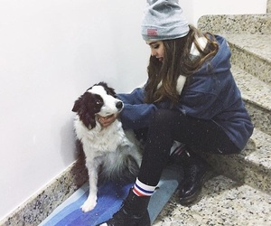 dog, girl, and indie image