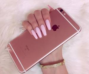 iphone, rose gold, and iphone 6 image
