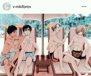 anime, yuuri, and anime boys image